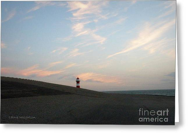 West Kapelle Light 1 Greeting Card