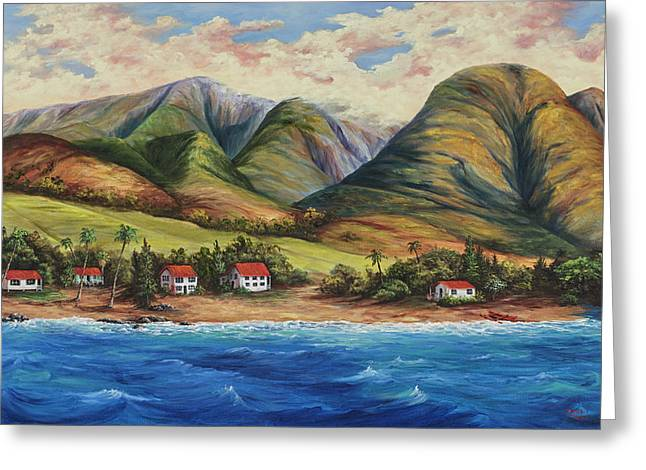 Greeting Card featuring the painting West Maui Living by Darice Machel McGuire