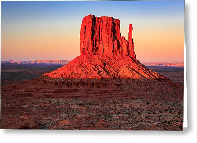 West Mitten Greeting Card by Johnny Adolphson