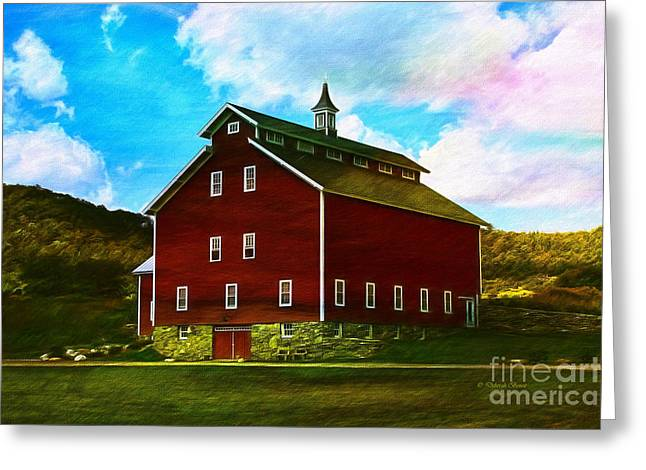 West Monitor Barn Vermont Greeting Card