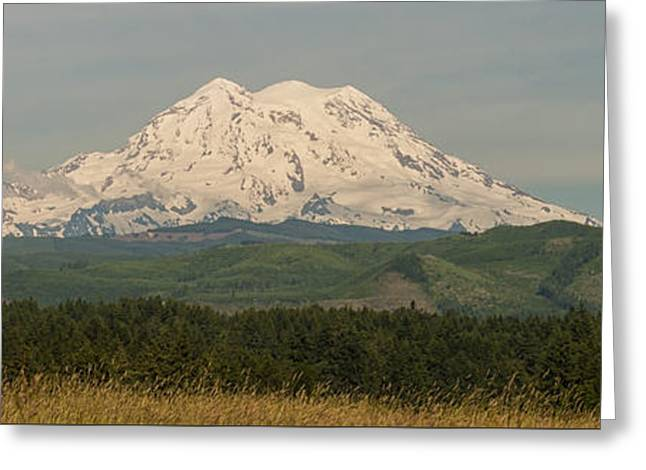 West Mt Rainier Greeting Card by Brian Harig