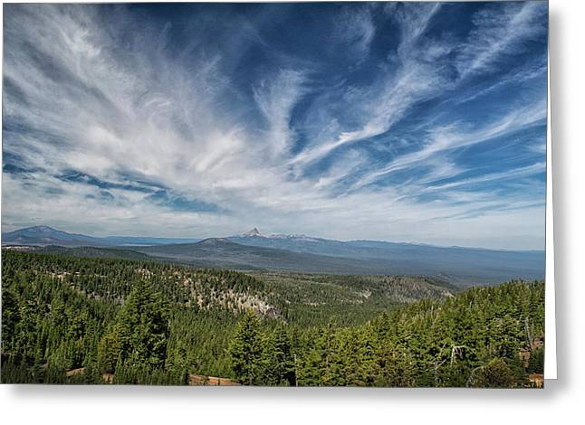 West Of Crater Lake Greeting Card by Frank Wilson