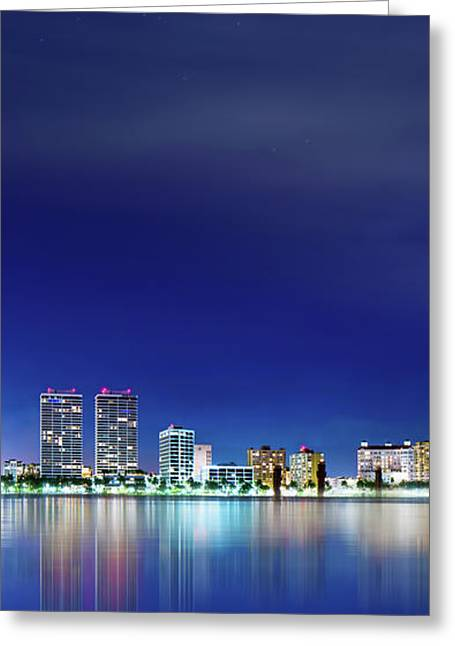 West Palm Beach Skyline Greeting Card by Mark Andrew Thomas