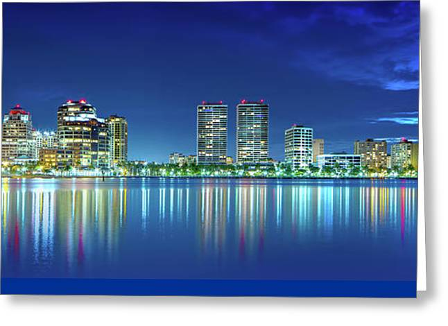 West Palm Twilight  Greeting Card by Mark Andrew Thomas