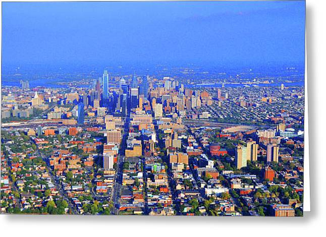 West Philadelphia Center City Skyline Greeting Card
