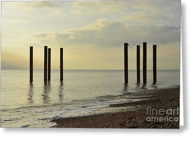 West Pier Supports Greeting Card by Nichola Denny