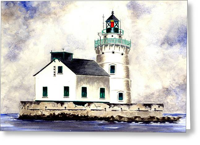 West Pierhead Lighthouse Greeting Card by Michael Vigliotti