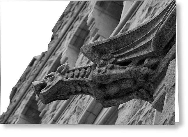 West Point Greeting Cards - West Point Gargoyle Greeting Card by Dan McManus