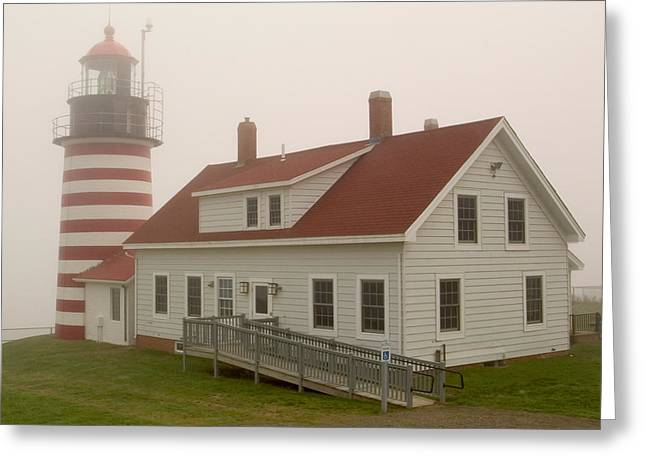 West Quoddy In Fog Greeting Card