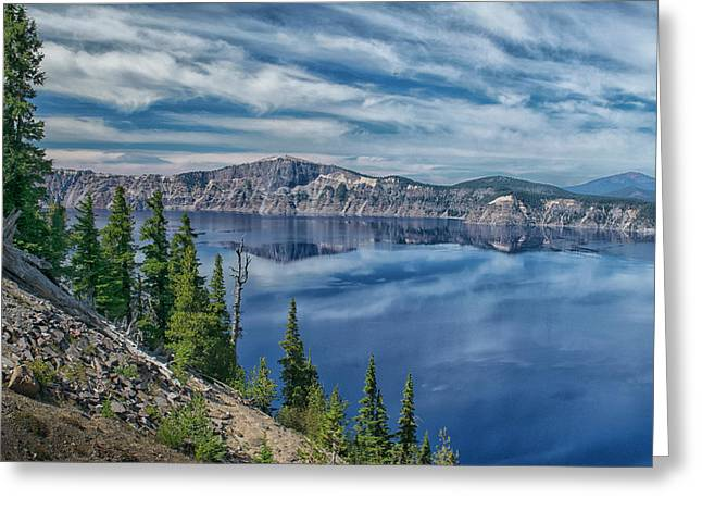 West Rim Of Crater Lake Greeting Card by Frank Wilson