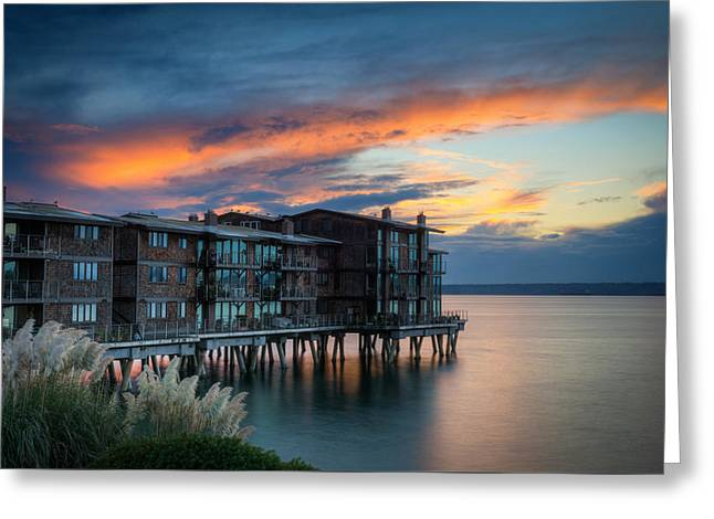 Greeting Card featuring the photograph West Seattle Living by Dan Mihai