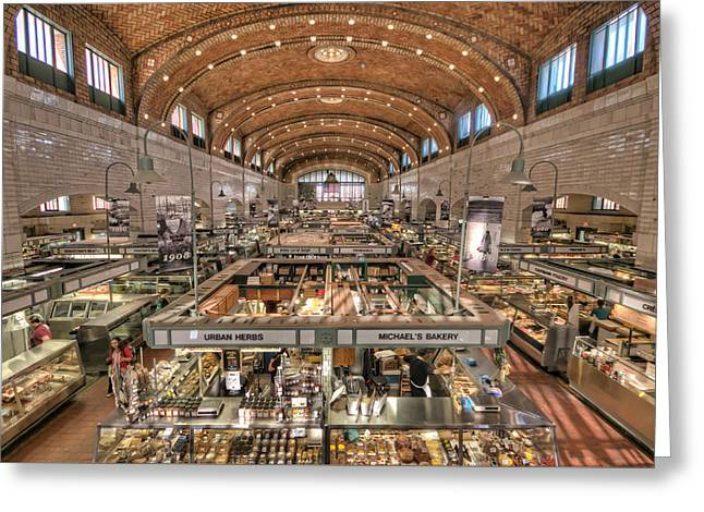 West Side Market Greeting Card by Brent Durken