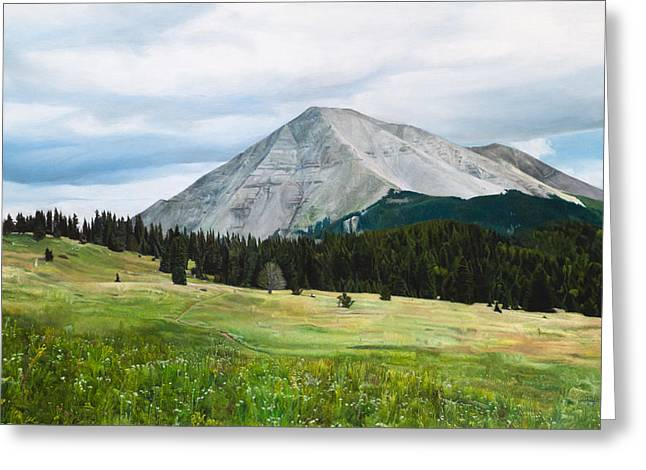 West Spanish Peak In Summer Greeting Card