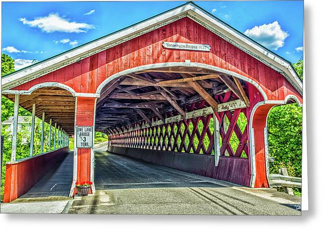 West Swanzey Bridge Greeting Card