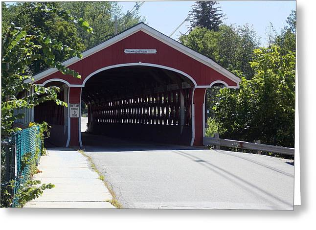West Swanzey Covered Bridge Greeting Card by Catherine Gagne