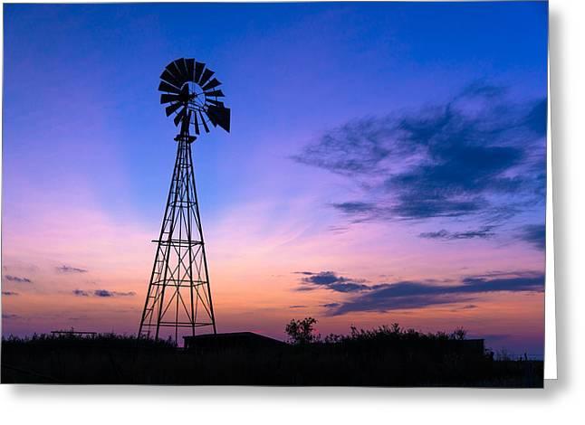 West Texas Windmill Greeting Card