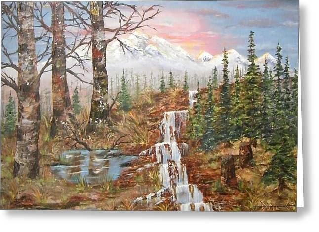 West Tortuga Falls Greeting Card by Larry Doyle