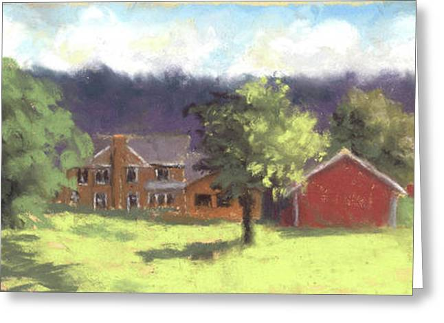 West View Of The Meyer Ranch Greeting Card by Terri  Meyer