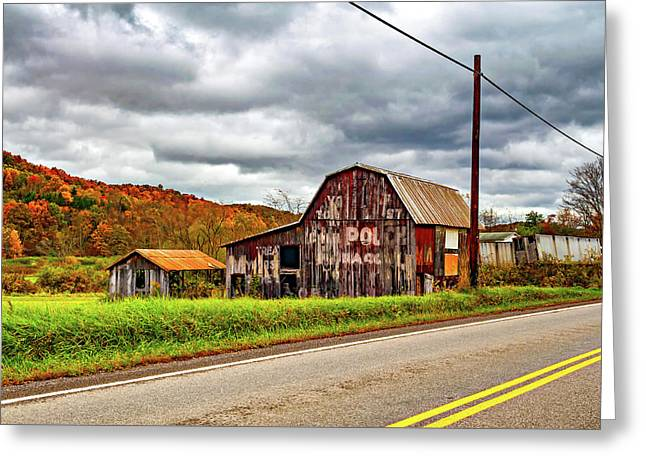 West Virginia Barn 2 Greeting Card by Steve Harrington