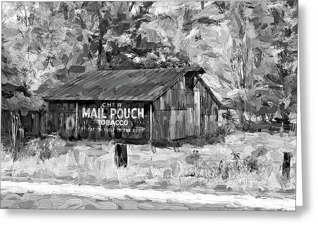 West Virginia Barn - Paint 2 Bw Greeting Card