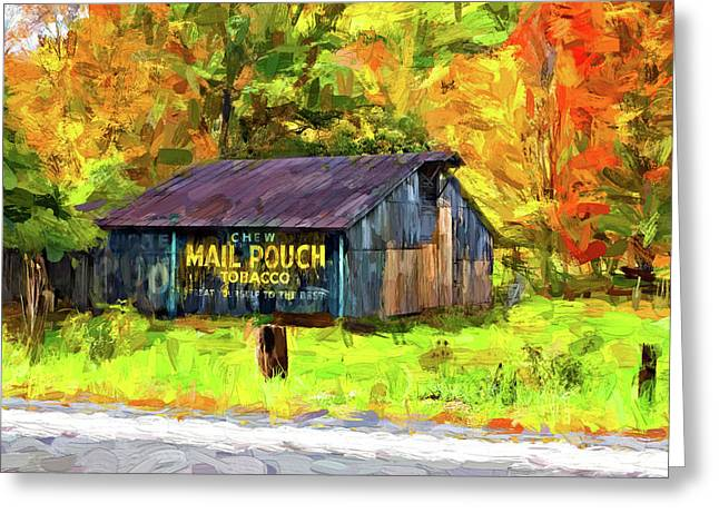 West Virginia Barn - Paint 2 Greeting Card