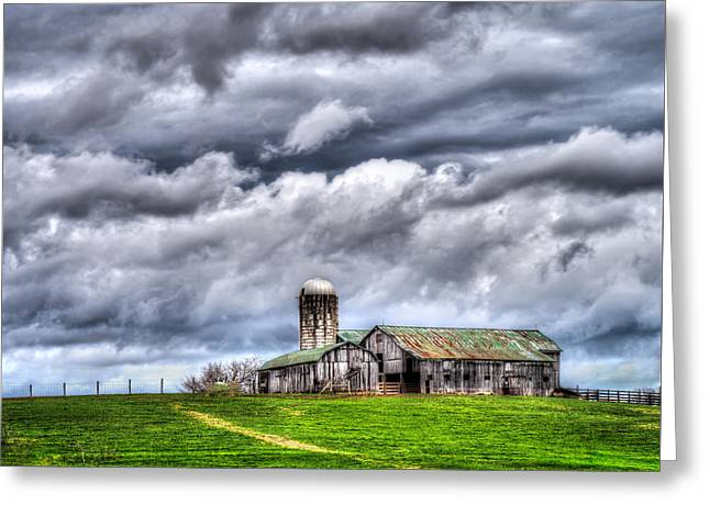 Greeting Card featuring the photograph West Virginia Barn by Steve Zimic