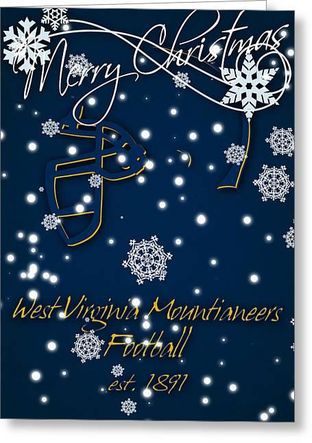 West Virginia Mountianeers Christmas Card 2 Greeting Card by Joe Hamilton