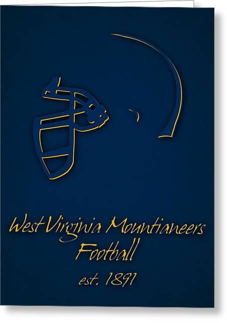 West Virginia Mountianeers Greeting Card by Joe Hamilton