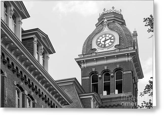 West Viriginia University Clock Tower Greeting Card by University Icons