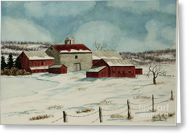 West Winfield Farm Greeting Card by Charlotte Blanchard