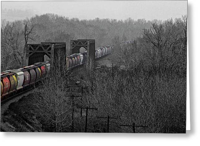 Greeting Card featuring the photograph Westbound Grain by Brad Allen Fine Art