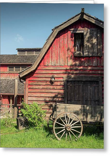 Western Barn Greeting Card by Carlos Caetano