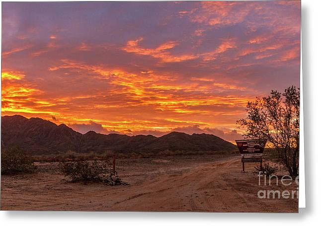 Western Barry Goldwater Range Greeting Card
