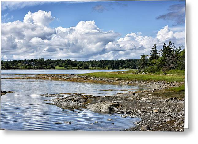 Western Bay - Oldhouse Cove Near Trenton Maine Greeting Card by Brendan Reals