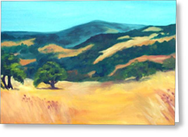 Western Hills Greeting Card by Anne Trotter Hodge