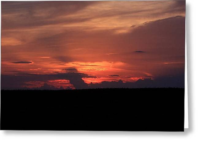 western Illinois Sunset Greeting Card by Dave Clark