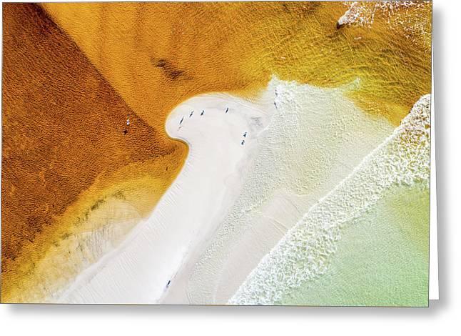 Western Lake Mingling The Gulf Greeting Card
