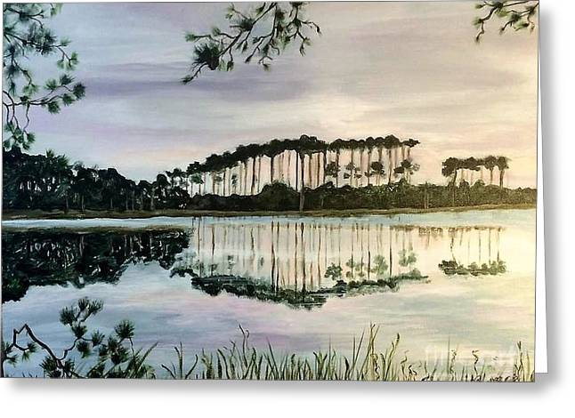 Western Lake On A Cloudy Day Greeting Card by Pamela O'Brien
