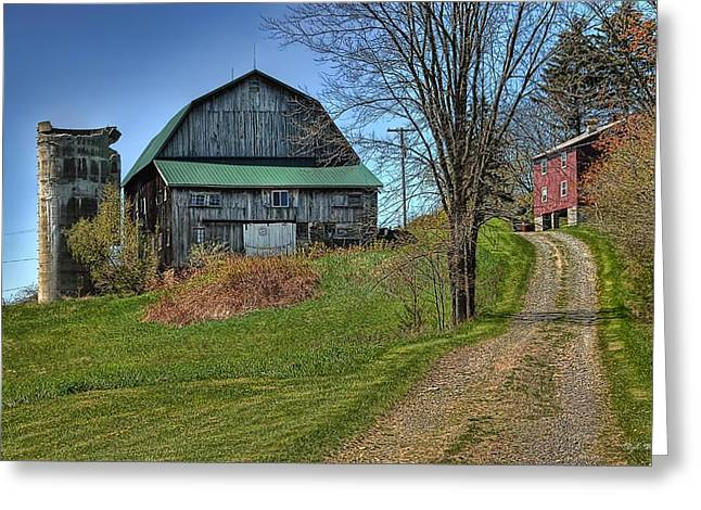 Western Pennsylvania Country Barn Greeting Card by Dyle   Warren