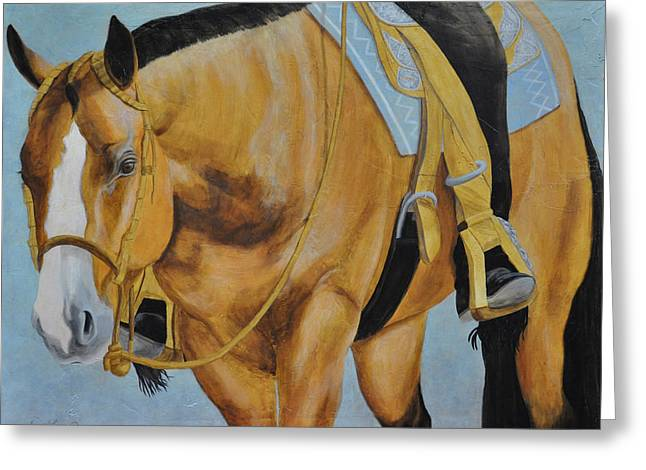 Quarter Horse Greeting Cards - Western Pleasure Greeting Card by Gail Finger