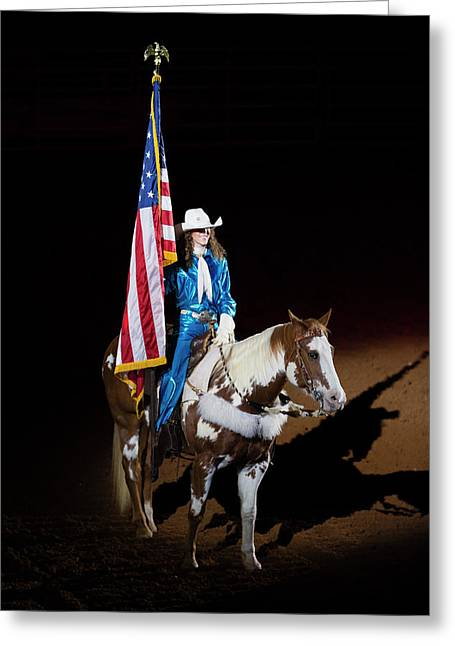 Western Salute Greeting Card by Stephen Stookey