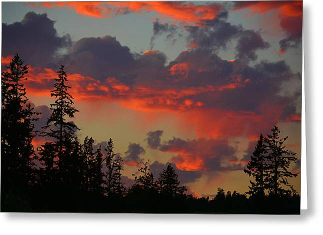 Western Sky Fire Greeting Card