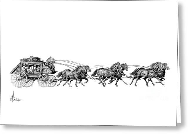Western Stagecoach Greeting Card