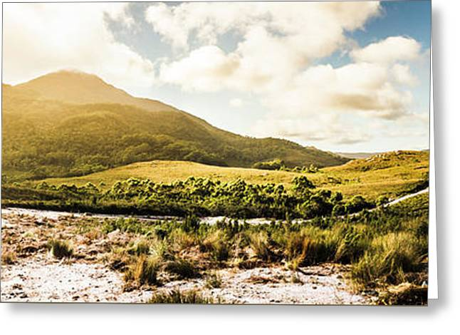 Western Tasmania Mountain Range Greeting Card by Jorgo Photography - Wall Art Gallery