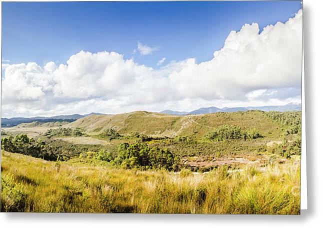 Western Tasmania Panorama Greeting Card by Jorgo Photography - Wall Art Gallery