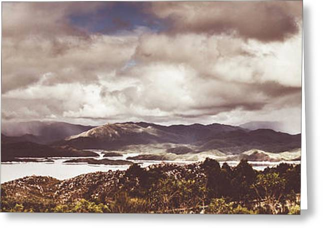 Western Tasmanian Lakes Landscape Greeting Card by Jorgo Photography - Wall Art Gallery
