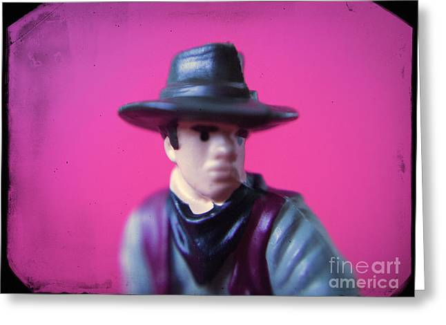 Western Toy Figure #2 Greeting Card by A Cappellari