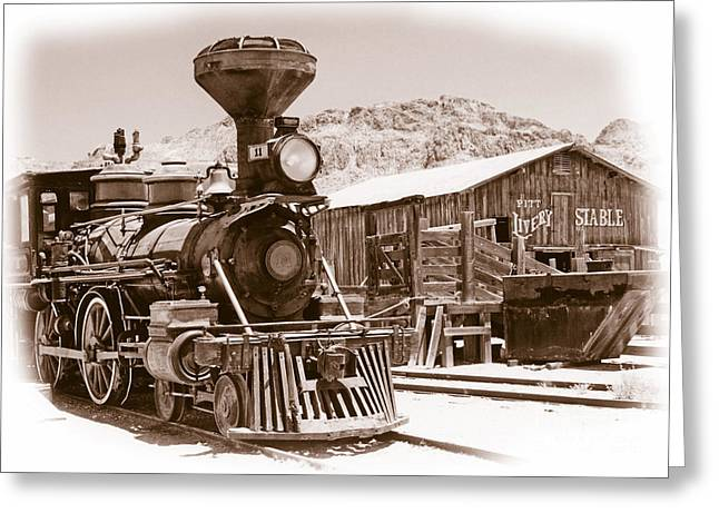 Western Train Greeting Card by Richard Allen