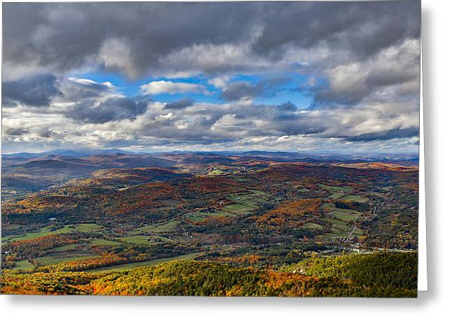 Western View From Mt Ascutney Greeting Card