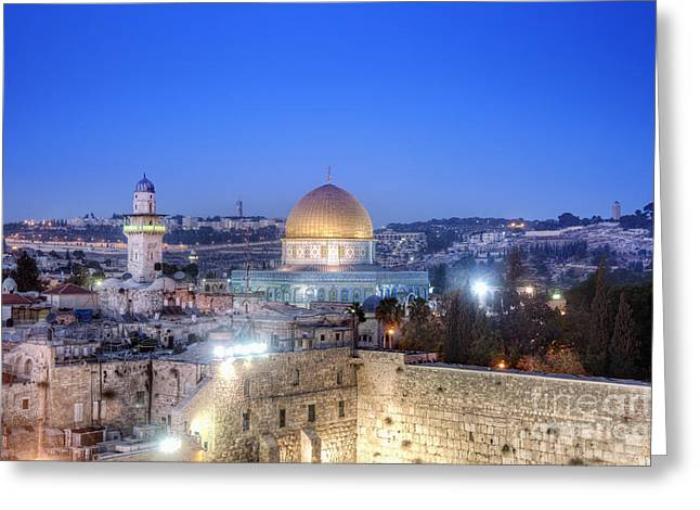 Western Wall And Dome Of The Rock Greeting Card